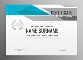 modern geometrisch certificaat van waardering sjabloon