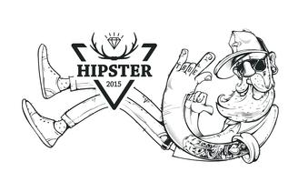 hipster vektorkonst