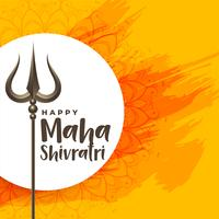 gelukkige maha shivratri festival achtergrond