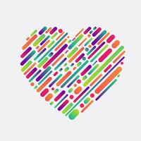 Colorful shape of a heart, vector illustration