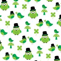 motif de hibou saint patricks day