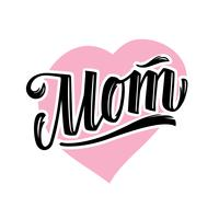 Mom Tattoo Style Vector Lettering