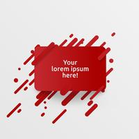 Modello rosso dinamico per la pubblicità, illustrazione vettoriale