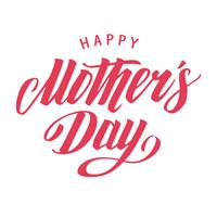 Happy Mother's Day Vector Lettering