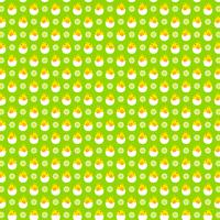 hatching egg baby chick pattern on green background