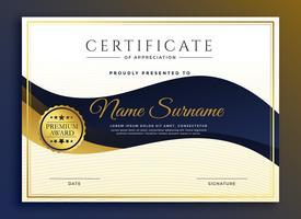 premium business certificaat van waardering sjabloon