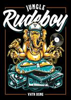 Jungle Rude Boy Ganesha Vectorkunst