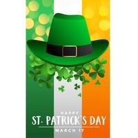 st patricks day background avec chapeau