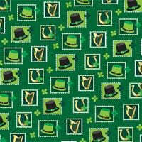 Saint  Patricks day stamp pattern