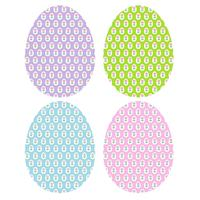 Flower pattern Easter eggs