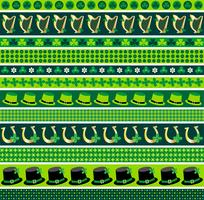 Saint Patrick's day border patterns