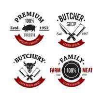 emblemas de carnicería vintage