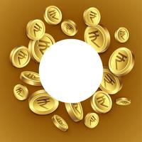 indian rupee golden coins background