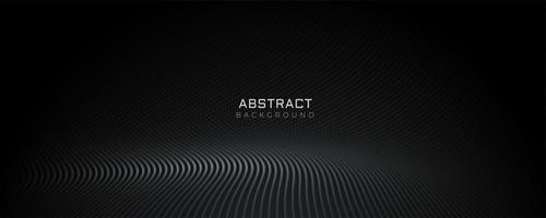conception de bannière de sol particules noires
