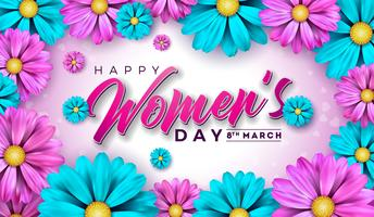Happy Women's Day Floral Greeting