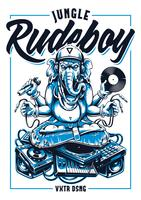Jungle Rude Boy Ganesha Vector Art