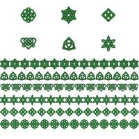 Saint Patrick's Day Celtic knots borders and icons