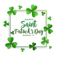 elegant happy saint patriks day frame