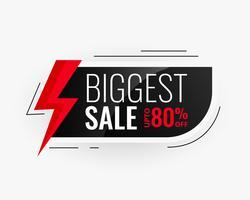 största försäljningen modern banner design