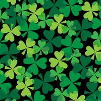 Saint Patrick's Day overlapping clover pattern
