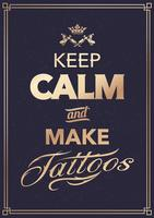 Make Tattoo Typography vector