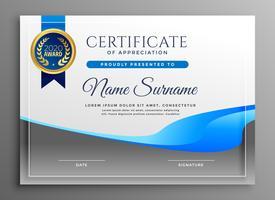 moderne certificaat van waardering sjabloon
