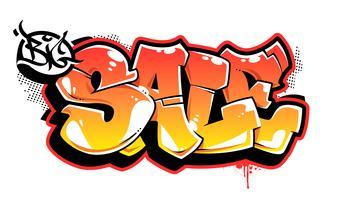 stor försäljning graffiti vektor bokstäver