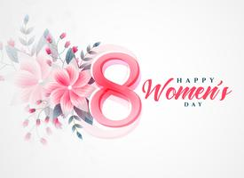 happy women's day beautiful greeting background