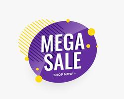 mega vendita banner design circolare