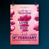 Valentines Day Party Flyer Design