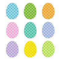 easter eggs with polka dots vector