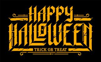 Feliz dia das bruxas gótico letras