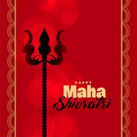 lord shiva trishul on red background