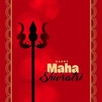 Lord Shiva Trishul på röd bakgrund