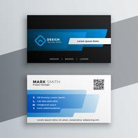 Diseño de plantilla de tarjeta de visita azul elegante