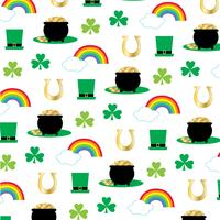 Pot de jour Saint Patricks avec motif arc-en-or