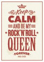 Rock Queen Typografie