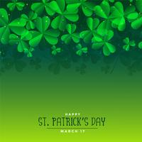 green st patricks day leaves background