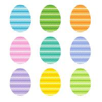 easter eggs with zig zag stripes vector