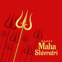 red background with golden trishul design