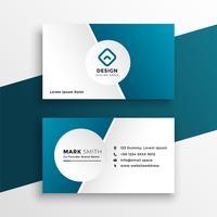 clean blue business card template