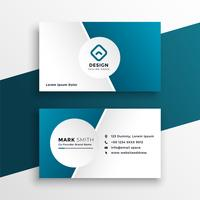 clean blue business card template