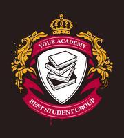 Vector emblema de la academia