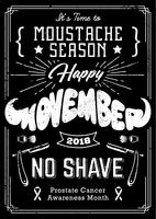 movember poster vintage ontwerp