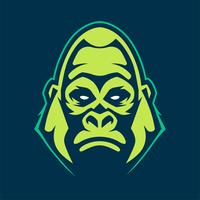 Gorilla mascotte vector pictogram