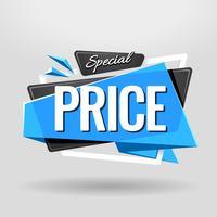 Banner geométrico de preço especial