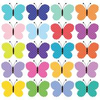 polka dot  butterfly clipart