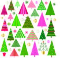 Christmas trees vector clipart