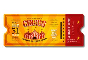 Bilhete de circo vintage