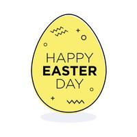 Uovo di Pasqua giallo.